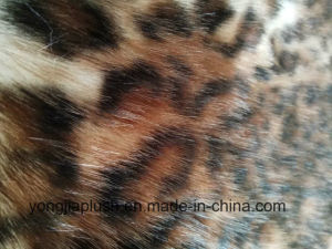 White Print Leopard Pattern Fox Imitation Fur pictures & photos
