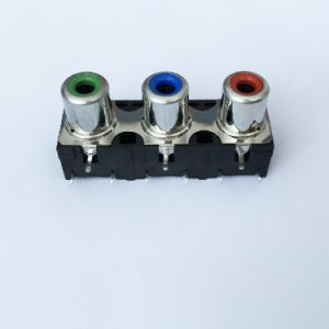 AV Socket with The Core Lotus Single-Hole RCA Socket Audio and Video Terminals AV3-8.4-23