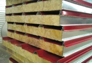 Color Steel Sheet Glass Wool/ Rock Wool Sandwich Roof/Wall Panels pictures & photos
