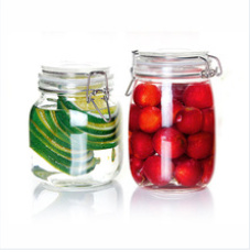 Hermetic Glass Storage Jar with Metal Clip, Honey Jar Glass, Glass Cookie Jar pictures & photos