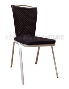 Modern Cheap Banquet Paint Steel Foot Mesh Fabric Dining Chair (NK-DC081) pictures & photos