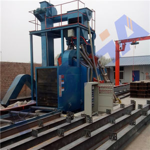 Q69 Series H Beam Steel Plate Shot Blast Cleaning Machine pictures & photos