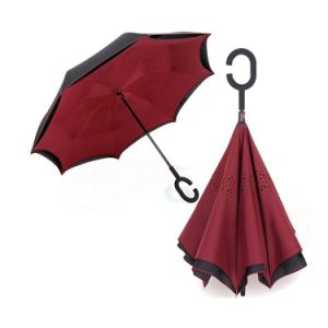 Popular Reverse Folding Windproof Protection Double Layer Inverted Umbrellas Upside Down Umbrella pictures & photos