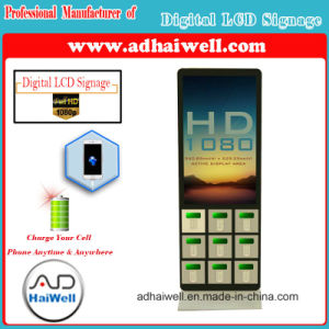 42 Inch HD LCD Digital Signage Display with iPhone Mobile Charging Station pictures & photos