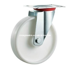 Supermarket Trolley Swivel Top Plate Nylon Wheels (N188)