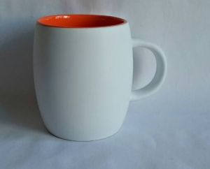 14 Oz Outside White Inner Red Ceramic & Coffee Mug pictures & photos
