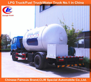 6 Wheeler 15000L LPG Tanker Truck 10m3 LPG Gas Filling Tanker Truck pictures & photos