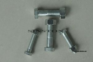 Carbon Steel Full Thread Bolt with Two Nuts