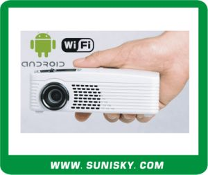 Wireless Mini Projector with Andriod System, HDMI, Support TF / U-Expansion pictures & photos