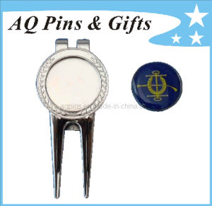 Silver Golf Divot Tool with Ball Marker (Golf-15) pictures & photos