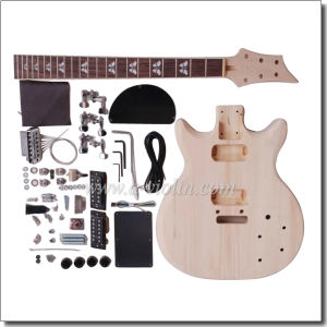 Double Cutaway Unfinished DIY Electric Guitar Kits (EGR201A-W1) pictures & photos