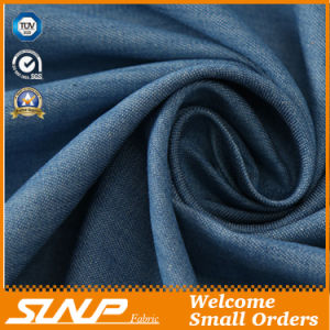 Cotton Plaid Mercerized Denim Fabric with Light Weight