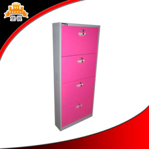 Colored Modern 4 Door Layer Shoes Cabinet pictures & photos