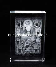 Ten Sikh Gurus Statues Engraved in Crystal for Sikhism Souvenir Gifts pictures & photos