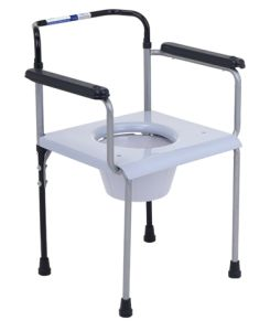 Bath and Commode Steel Chair