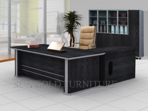 Classical Black Office Desk Office Furniture (SZ-129) pictures & photos