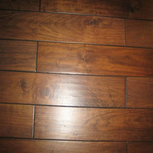 Foshan Waterproof Kitchen Use Antique Walnut Parquet Wood Flooring pictures & photos