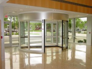 Automatic Revolving Door, 2-Wing, Lenze Motor, with Sliding Door by Dunker Motor pictures & photos