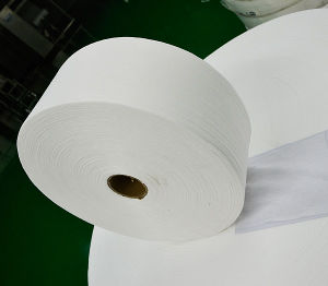 Cross Lapped Spunlace Nonwoven Fabric pictures & photos