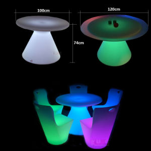 Multi Color Changing Plastic LED Wedding Table for Events Wedding Furnitures pictures & photos