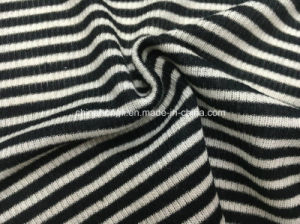 High Quality 2*2 Rib, P/R 65/35, 140GSM, Stripe&Yarn-Dye Knitting Fabric pictures & photos