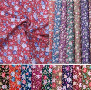 Stock 100%Polyester Printed Microfiber Fabric 95GSM Width 150cm for Hometextile pictures & photos