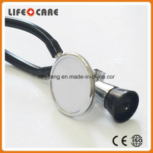 Medical Standard Black Dual PVC Tubing Fetal Stethoscope for Baby pictures & photos