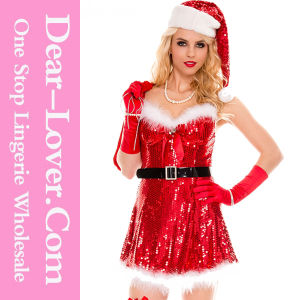 2016 Sexy Adult Lingerie Christmas Santa Dress pictures & photos