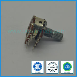 16mm Rotary Potentiometer Dual Gang with Metal Shaft B10k, B100k pictures & photos