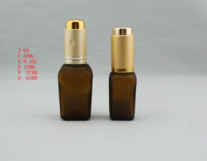 Proving Square Glass Bottle with Pump (LDJ025)