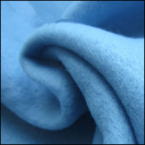 100% Polyester One Side Brushed Fleece Fabric, Garment Fabric, FDY150d/96f. pictures & photos