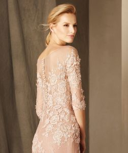 Backless Lace Long Sleeve Sexy Mother of The Bride Dresses Free Photos (MI 3530) pictures & photos