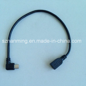 Custom Right Angle Mini USB Cable for Cameras pictures & photos