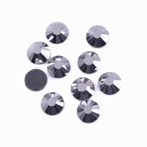 Ss6 2mm Mine Silver Glass Crystal Stones Flatback DMC Hotfix Rhinestones for Hat Accessories pictures & photos