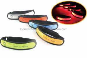 Fashionable Reflective Elastic Band LED Armband Bracelet pictures & photos