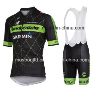 2016 Black/Green Cycling Jersey and Bib Shorts Set pictures & photos