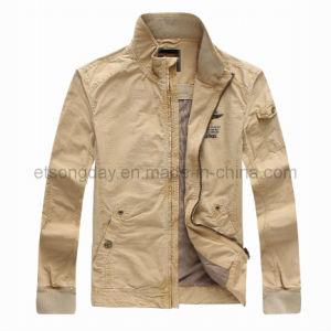 Fashion Khkai 100% Cotton Men′s Casual Jacket (PJA22101) pictures & photos