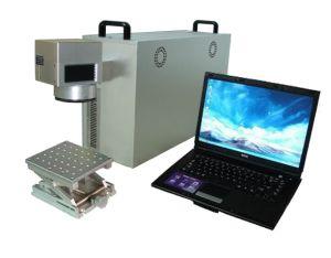 Handheld Bar Code Fiber Laser Marking Machine pictures & photos