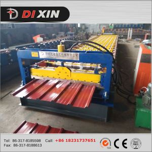 China Manufacturer Dixin Color/Galvanized Steel Roofing Sheet Roll Forming Machine pictures & photos