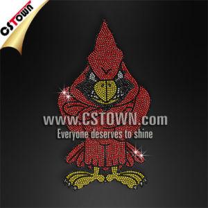 Rhinestud Cardinal Tshirt Transfer Custom Hot Fix Designs