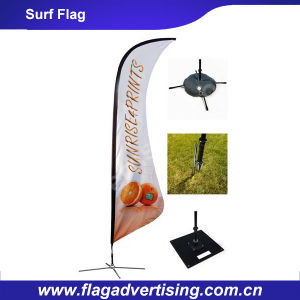 High Quality Polyester Trade Show Advertising Beach Surf Flag