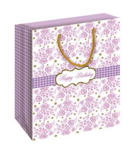 Flower Birthday Gift Paper Bag (BS-011)