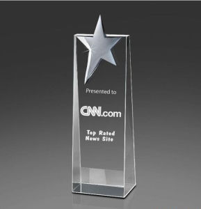 New Design Cheap Award Star Crystal Trophy (KS014) pictures & photos