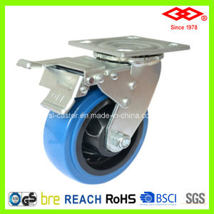 200mm Swivel with Brake PU Wheel Heavy Duty Caster (P701-36FA200X50S) pictures & photos