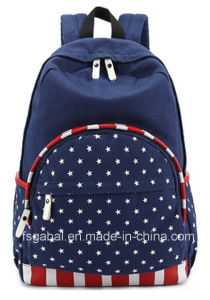 Colleague Students Canvas School Bag Travel Rucksack Backpack pictures & photos