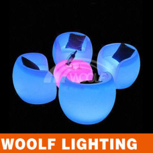 Color Light LED Coffee Table and Chair Set pictures & photos
