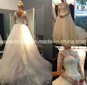 Fashion Lace Ball Gown Puffy Tulle Bridal Wedding Dress Yao115 pictures & photos