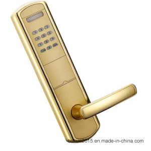 Hotel Mangement System Zinc Alloy Electronic Lock RF Card Smart Door Lock pictures & photos