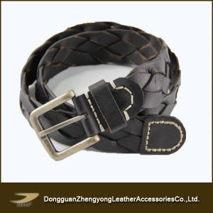 Braided Leather Belt for Man