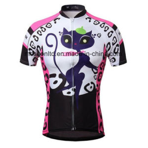 2015 New Women′s Cycling Clothing Bike Bicycle Short Sleeve Cycling Jersey Top pictures & photos